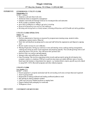 Utility Clerk Resume Samples Velvet Jobs