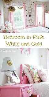 Pink And Gold Bedroom Decor Girls Room In Pink White Gold Decor Girls White Gold And