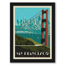 Check out our great posters, wall decals, photo prints, & wood wall art. Americanflat San Francisco Golden Gate Bridge Skyline Framed Wall Art