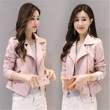 whole 2018 new autumn women washed pu leather diagonal zipper motorcycle short jacket handsome solid color rivet lapel leather jacket worldwide