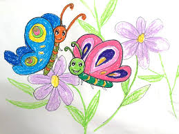 Art For Kids Painting Animals For Kids How To Draw A Beautiful Butterfly On
