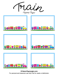 name tag template free free printable train name tags the template can also be used for