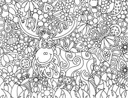 Small Picture Adult coloring page christmas Santa Clauss reindeer 12