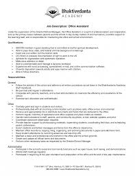 Office Assistant Job Description For Resume Perfect Primary Objective And Essential Functions For Resume 4