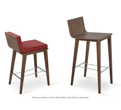 corona wood stool with dallas seat by sohoconcept  modern stools