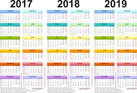 year calender three year calendars for 2017 2018 2019 uk for pdf