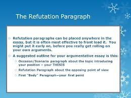 how to write a refutation paragraph strengthening your argument the refutation paragraph iuml130155 refutation paragraphs can be placed anywhere in the essay but it