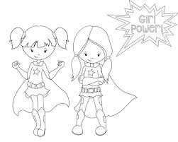 Boy And Girl Superhero Coloring Pages Coloring Pages For Kids