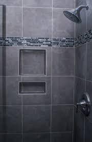 Bathroom Tile Displays Gray Shower Tile For A Refined Feel Gray Matters Pinterest