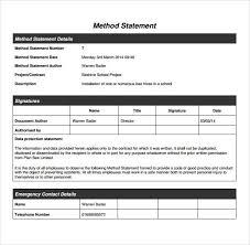 Method Of Statement Sample method of statement sample node100cvresumepaasprovider 17