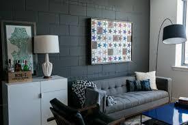 dark gray condo living room