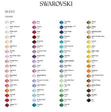 Bicone Bead Size Chart Swarovski Color Charts 2019 Edition Modastrass Blog