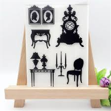Beautiful font b Furniture b font Designs Transparent Clear Stamp DIY Silicone Seals Scrapbooking Card font