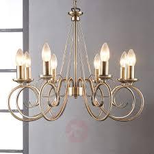 8 bulb marnia chandelier in antique brass 9621016 01