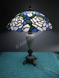 Stained Glass Lamp Roses Classic Table Lamp Tiffany Style Stained Glass Table Lamp Stained Glass Lamp Shade Tiffany Glass