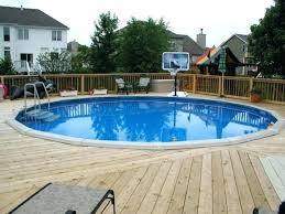 Above Ground Pool Deck Plans And Ideas Modern Decks Swimming Pools 24 Round