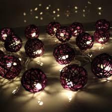 ball fairy lights. purple rattan ball led fairy lights