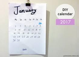 Easy made DIY calendar for 2017