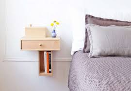 wall mounted bedside shelves with
