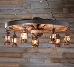 large wagon wheel chandelier with rustic lanterns intended for wagon wheel light fixture