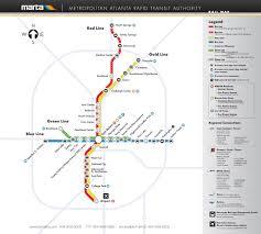 official map atlanta georgia  marta rail  transit maps