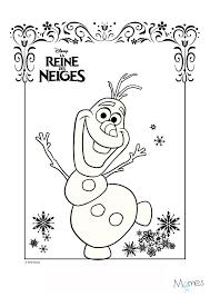 20 Dessins De Coloriage Reine Des Neiges Olaf Imprimer
