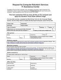 Computer Repair Work Order Form Template Onlineblueprintprinting