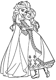Small Picture Anna coloring pages and elsa hugging ColoringStar