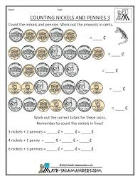 Penny Worksheets For Kindergarten Counting Pennies Coin Money Nickel ...