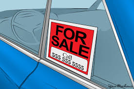 For Sale Sign On Car How To Advertise Your Used Car With A Window Display Yourmechanic