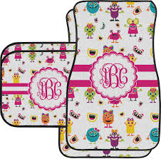 girly car floor mats. Girly Monsters Car Floor Mats Set - 2 Front \u0026 Back (Personalized) Girly Car Floor Mats F