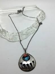c bear paw necklace pendant