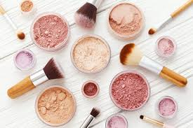 assortment of colorful diy makeup powders in round containers with brushes vitacost com