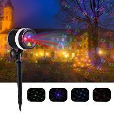 sendow led projector laser light 8 in 1 rgb patterns dj ip65 waterproof landscape lights