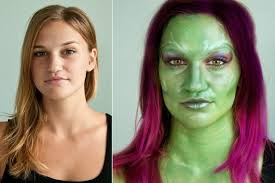 get the look gamora of guardians of the galaxy makeup tutorial