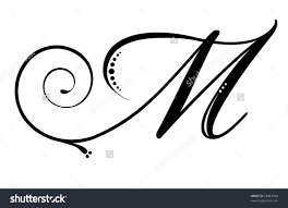 fancy letter m letter m stock photos images pictures shutterstock initials