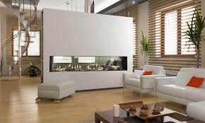 flare see through modern linear fireplaces