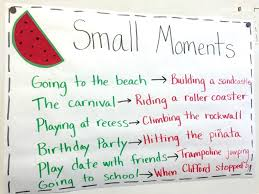 Small Moment Watermelon Anchor Chart Narrative Writing Zooming Into Small Moments The Brown