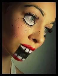 30 diy costume ideas creepy doll makeupcreepy