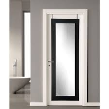 Black Over the Door Full Length Framed Mirror-BM2THINH - The Home Depot