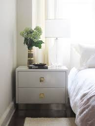stunning white lacquer nightstand furniture. White Nightstand With Gold Hardware Stunning Gray Transitional Bedroom Elizabeth Sullivan Design Interiors 9 Lacquer Furniture S