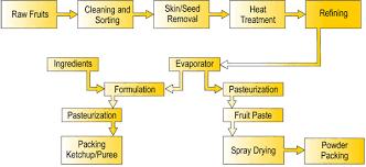 Tomato Sauce Production Flow Chart Process Flow Diagram Tomato Ketchup Tomato Juice Flow Chart