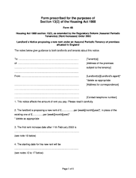 Notice Of Rent Increase Form Rent Increase Forms Fill Online Printable Fillable