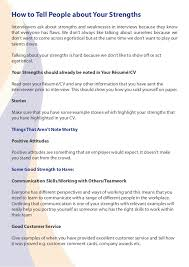 Sample Of Strength And Weaknesses Strengths To Mention In An Interview Magdalene Project Org