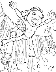 Tarzan Small Waterfall Coloring Pages For