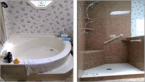 the demolition required for a bathtub to shower conversion will require a new wall surround this is the perfect time to get rid of those hard to clean