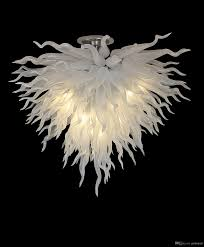 white color murano glass modern chandelier lighting fixtures wedding table top centerpieces home decoration chihuly glass wedding chandelier lights for