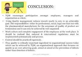 tqm conclusion total quality management