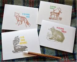 Free Printable Note Cards Northland Critters Printable Note Cards