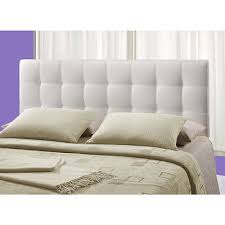 white upholstered headboard queen. Fine White Stunning White Fabric Headboard Queen Tufted  Upholstered Button Padded Inside D